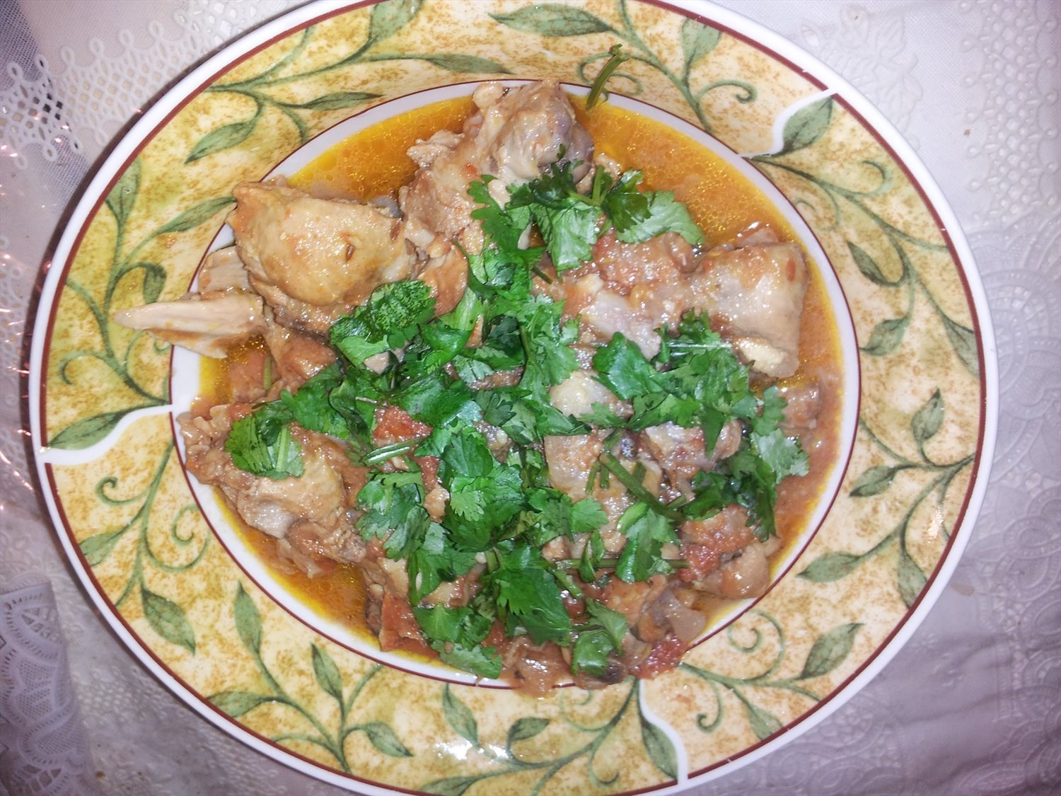 Chicken with Gravy (Chicken Karahi)