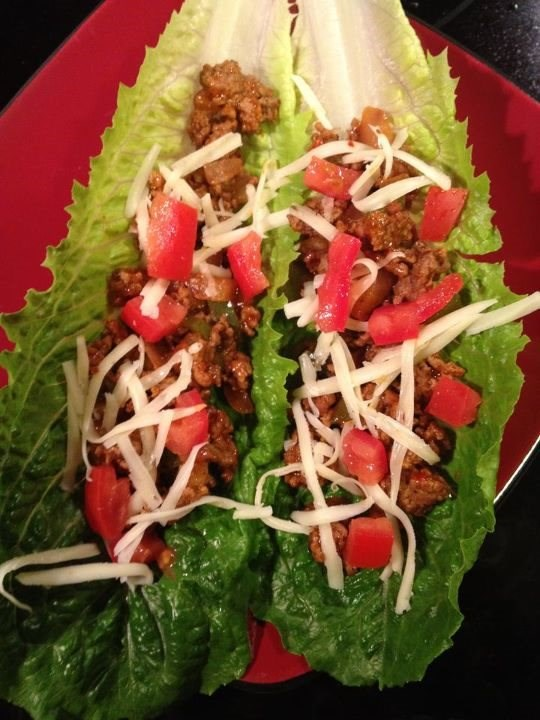 Tacos Wrapped in Romaine Lettuce Shells