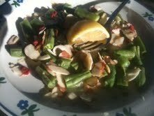 Green Beans with Almonds and Goji Berries