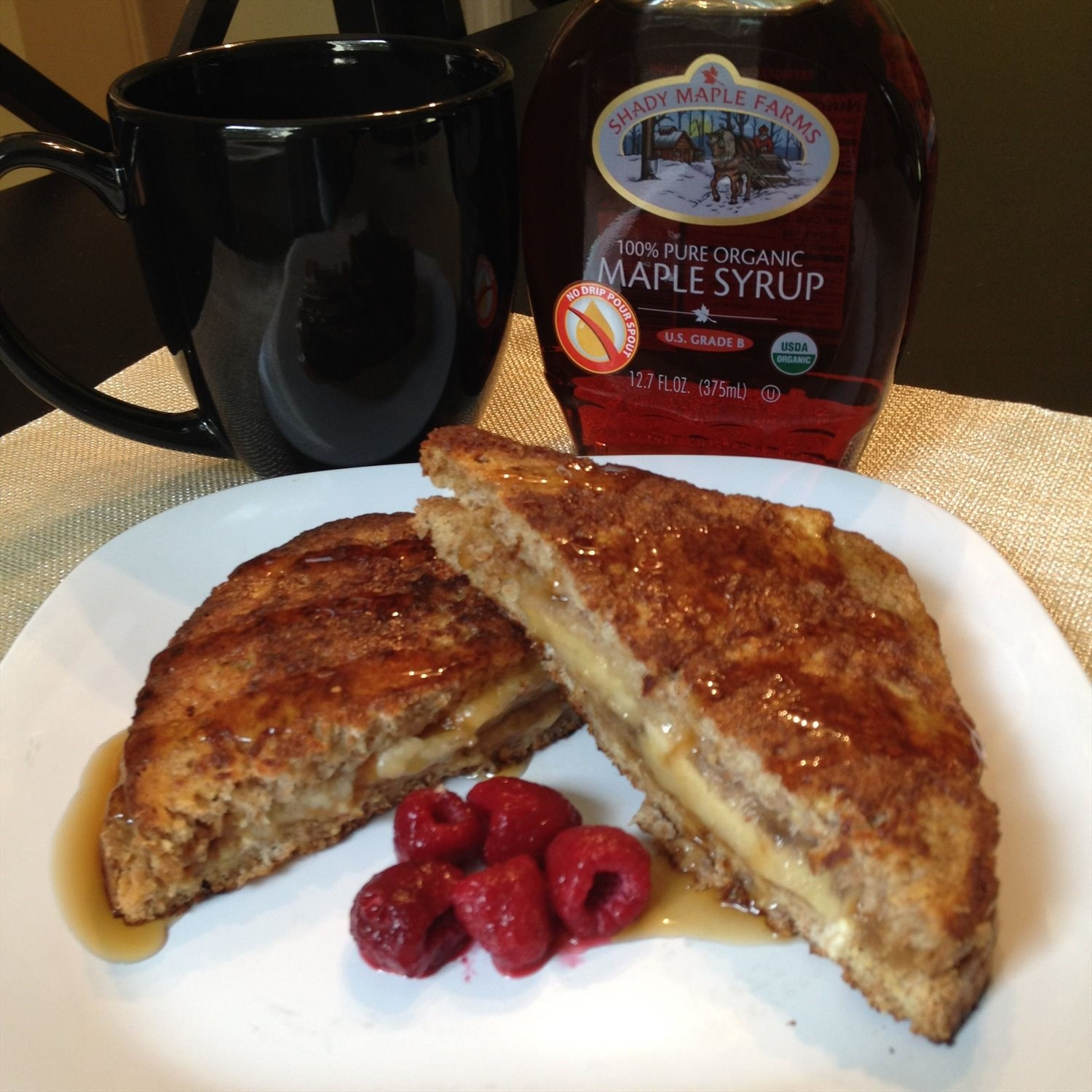 Banana Almond Butter French Toast Sandwich