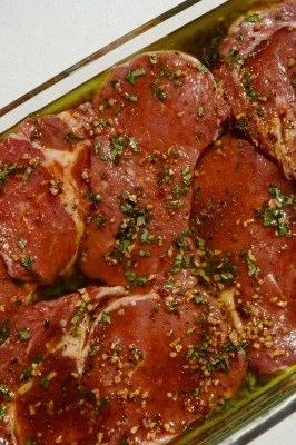 Roasted Garlic–Stuffed Rib Eyes
