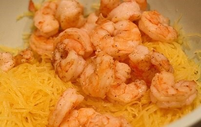 Spaghetti Squash with Shrimp