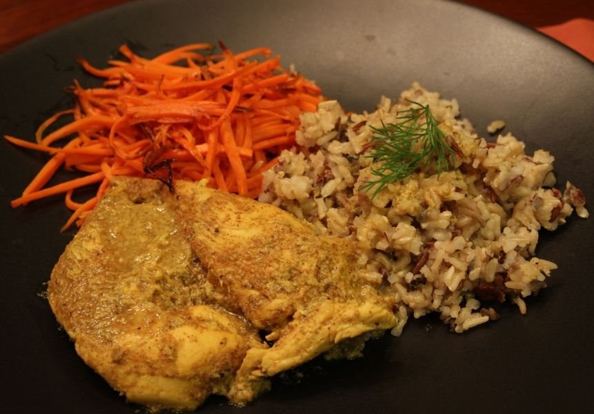 Baked Coconut Curry Chicken