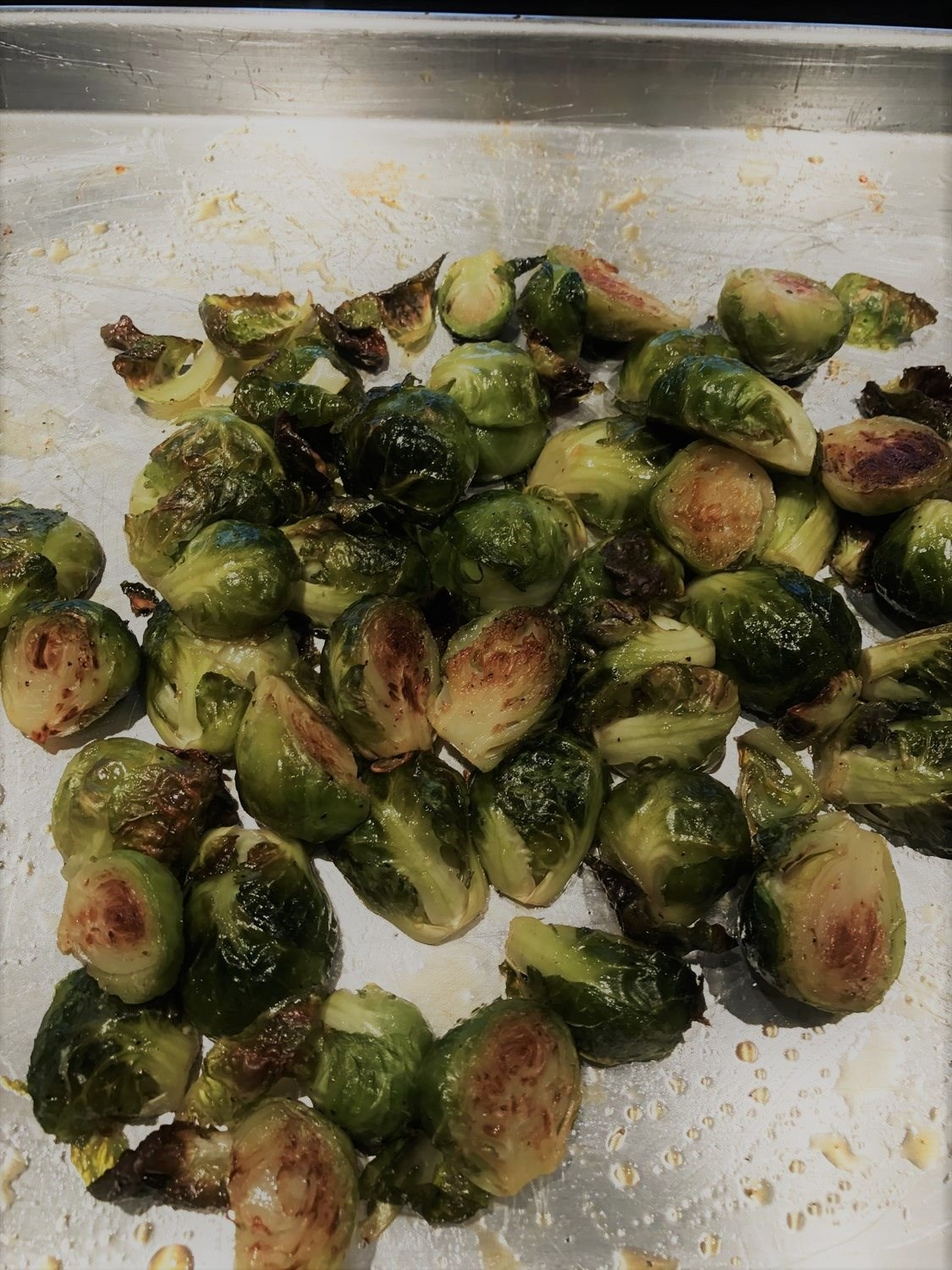 Roasted Brussels Sprouts with a touch of Maple