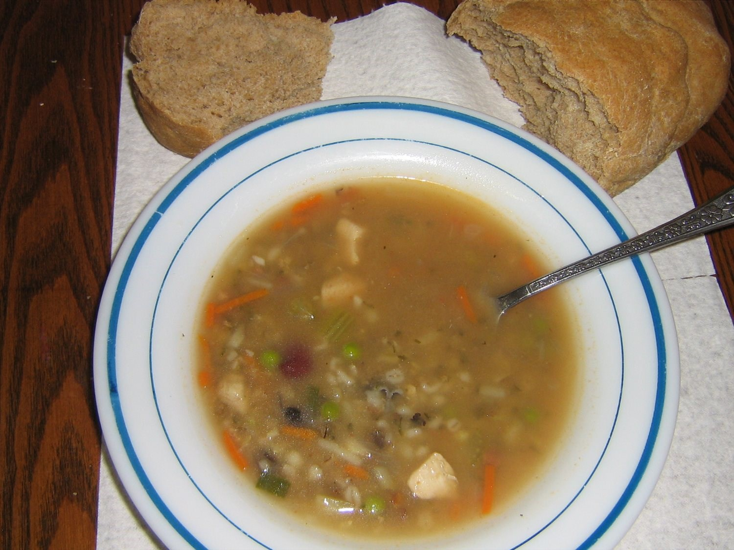 Chicken, Barley, and Wild Rice Soup