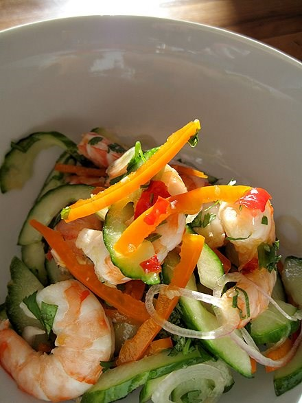Cool Shrimp Cucumber Salad