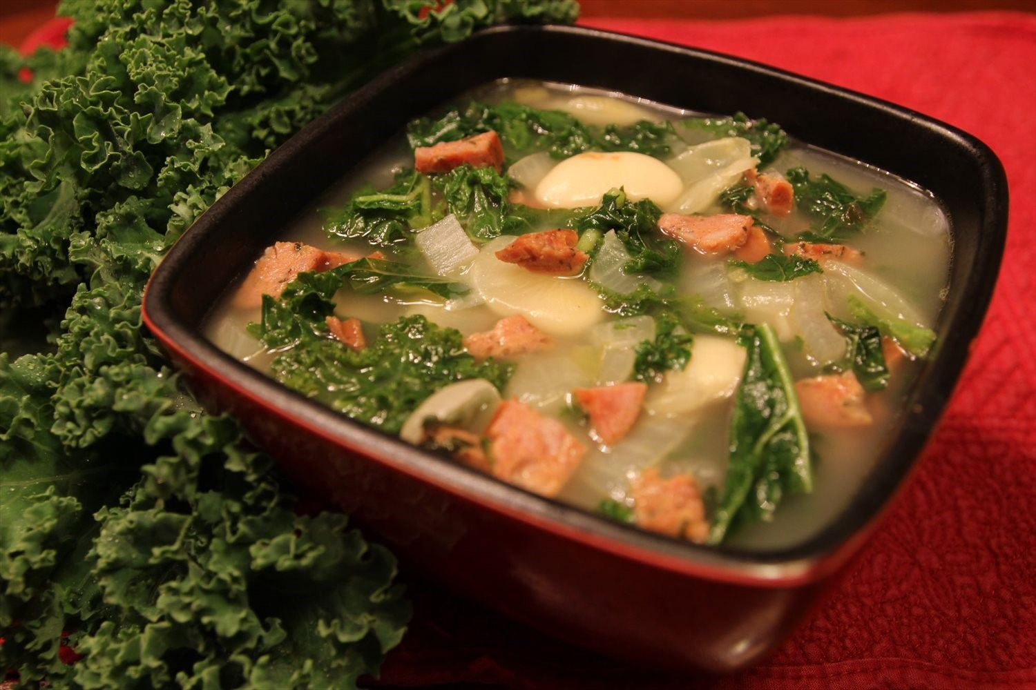 Kale Sausage and White Bean Soup
