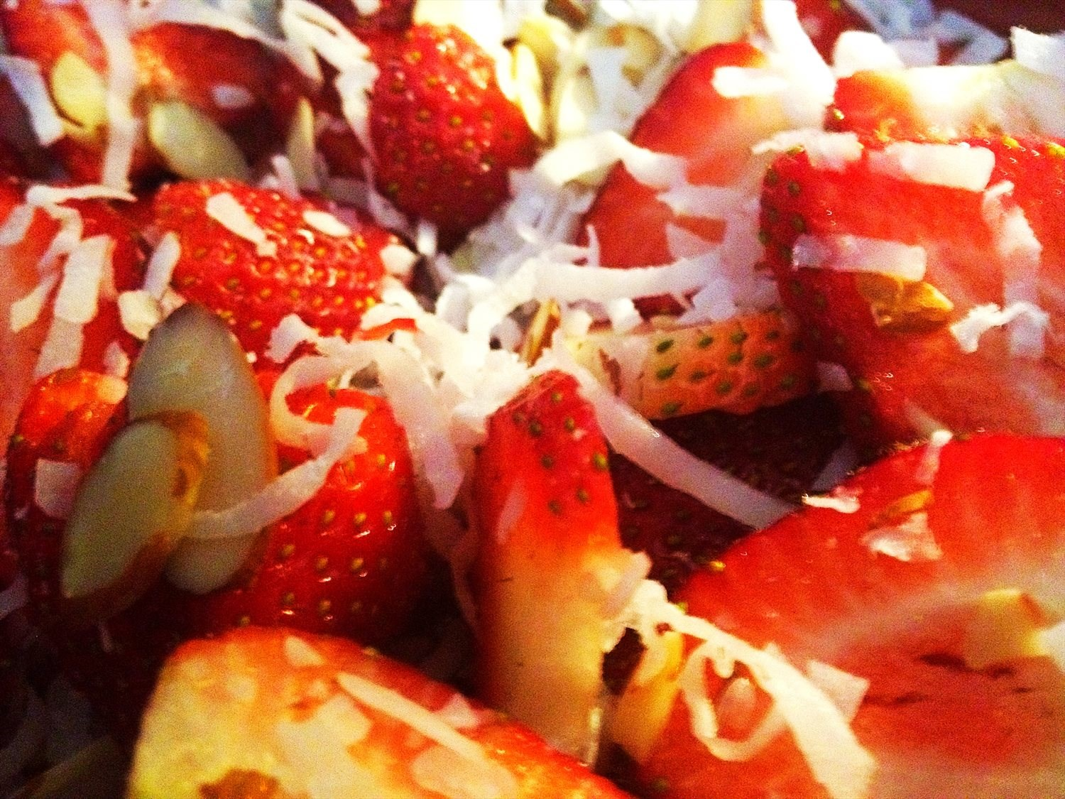 Coconut and Almond Strawberries