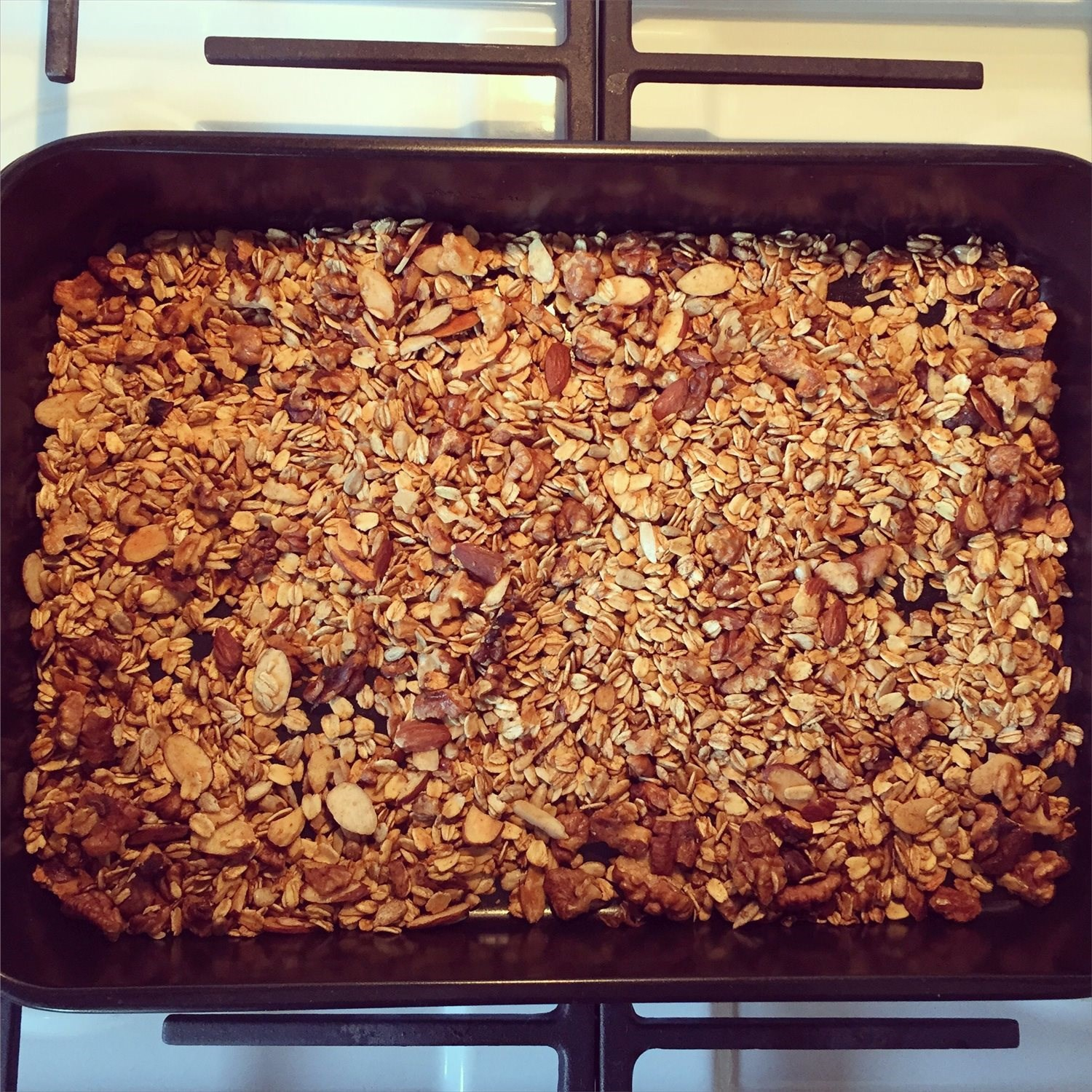 Basic Oat and Nut Granola