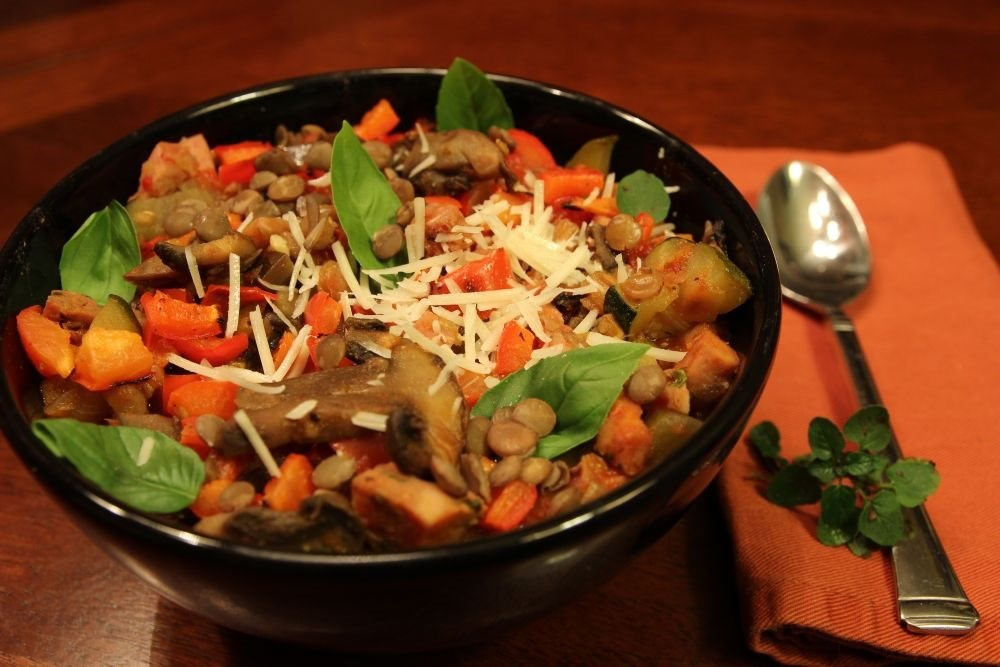 Italian Sausage Lentil and Veggie Stew