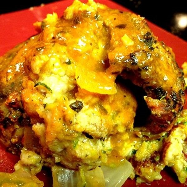 Chicken Italian Sausage and Shredded Zucchini Stuffed Steak