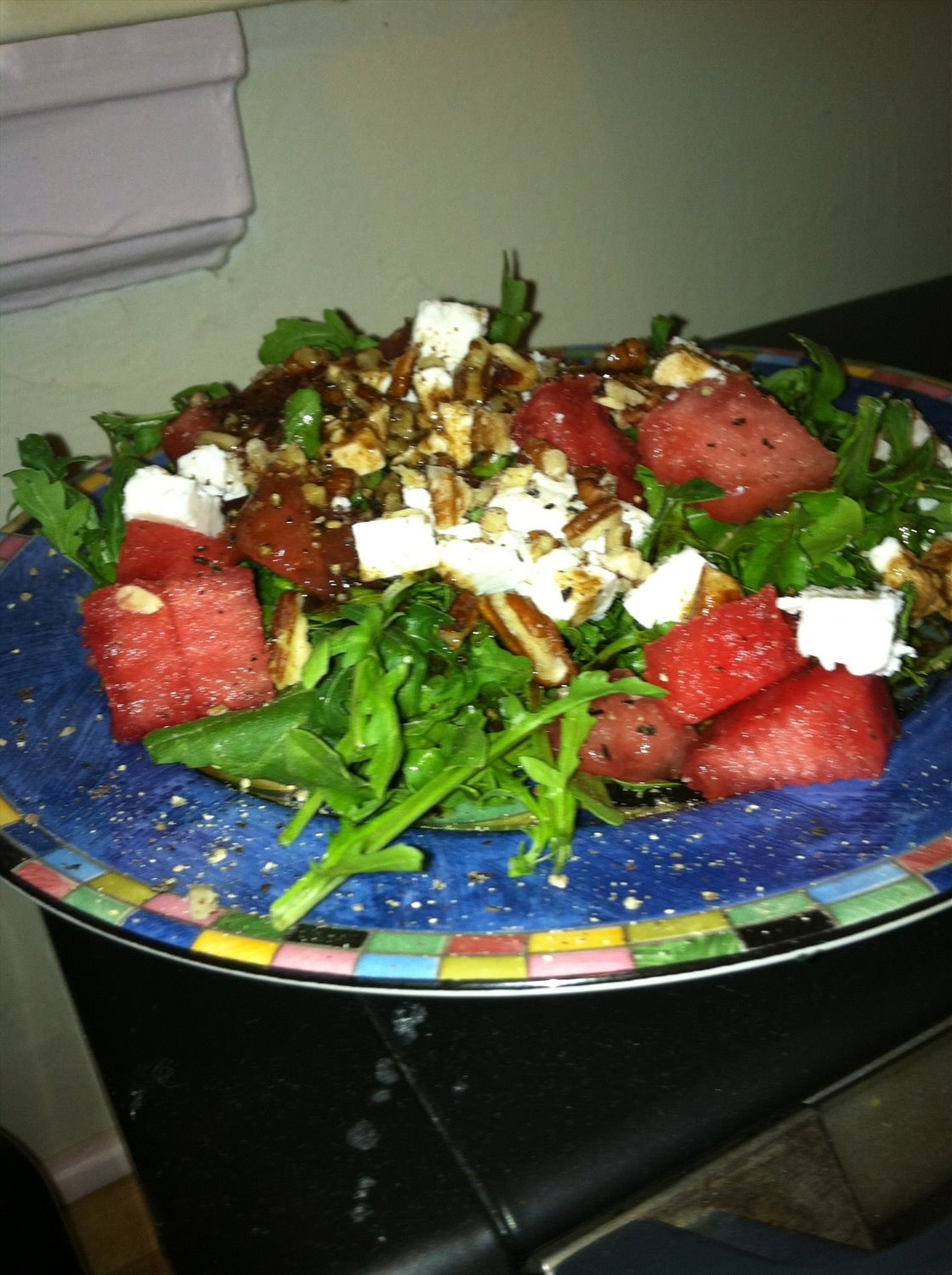 Arugula, Watermelon and Feta Salad