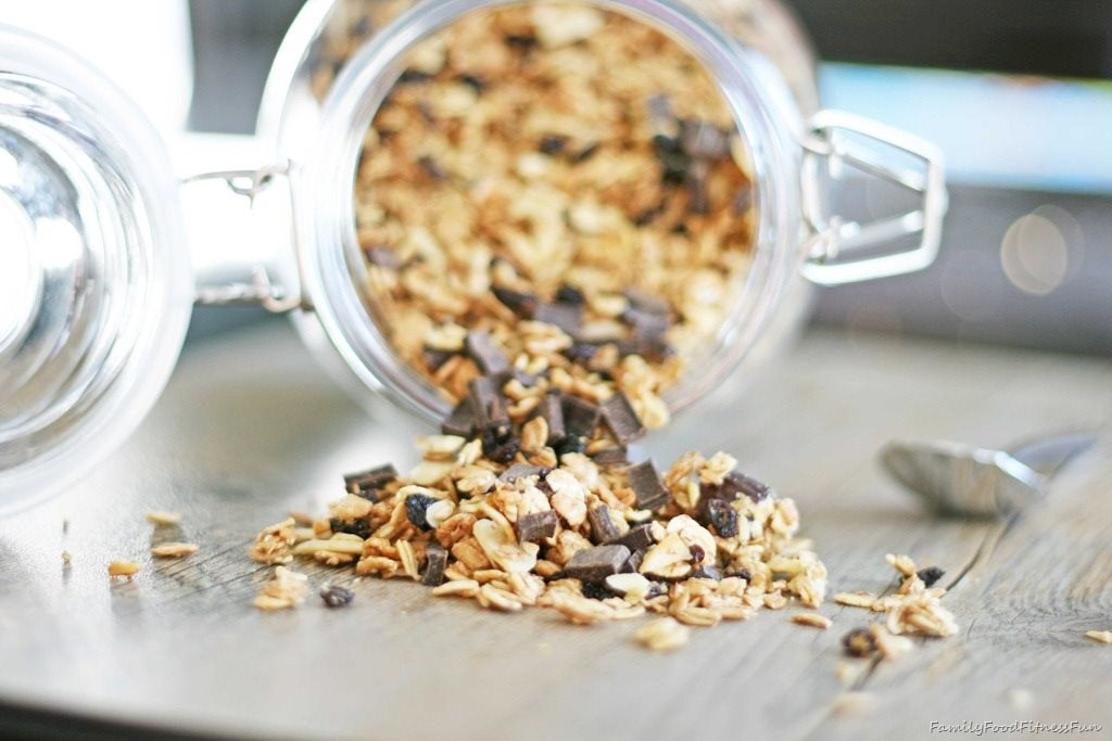 Maple Peanut Butter Chocolate Granola