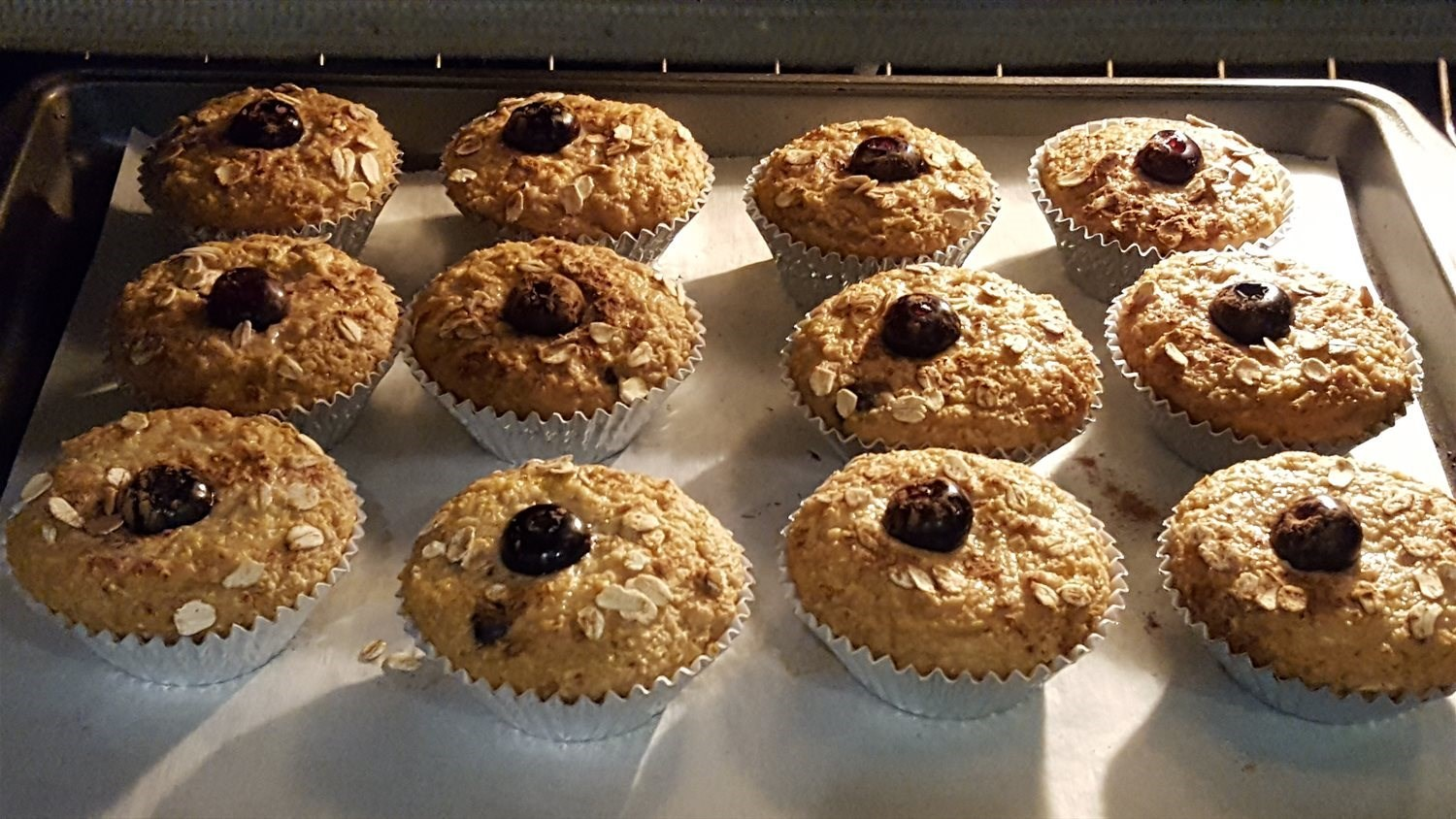 Apple Blueberry Oatmeal Muffins