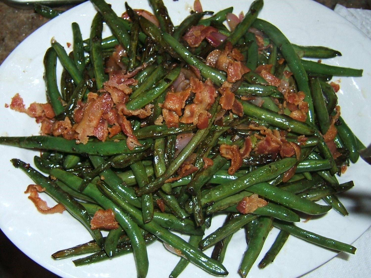 Blistered Green Beans
