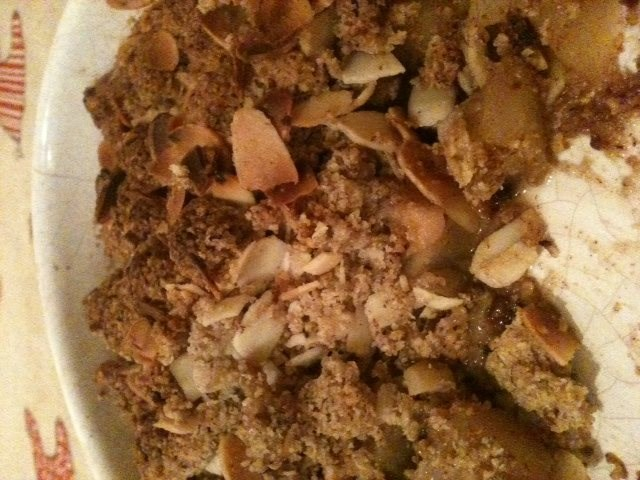 Toffee Apple and Pear Nutty Crumble