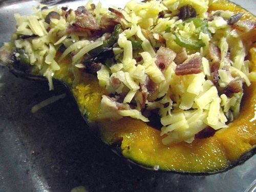 Cheese n' Bacon Topped Pumpkin