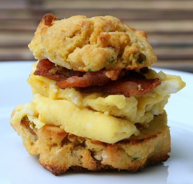 Pumpkin, Apple, and Bacon Biscuits