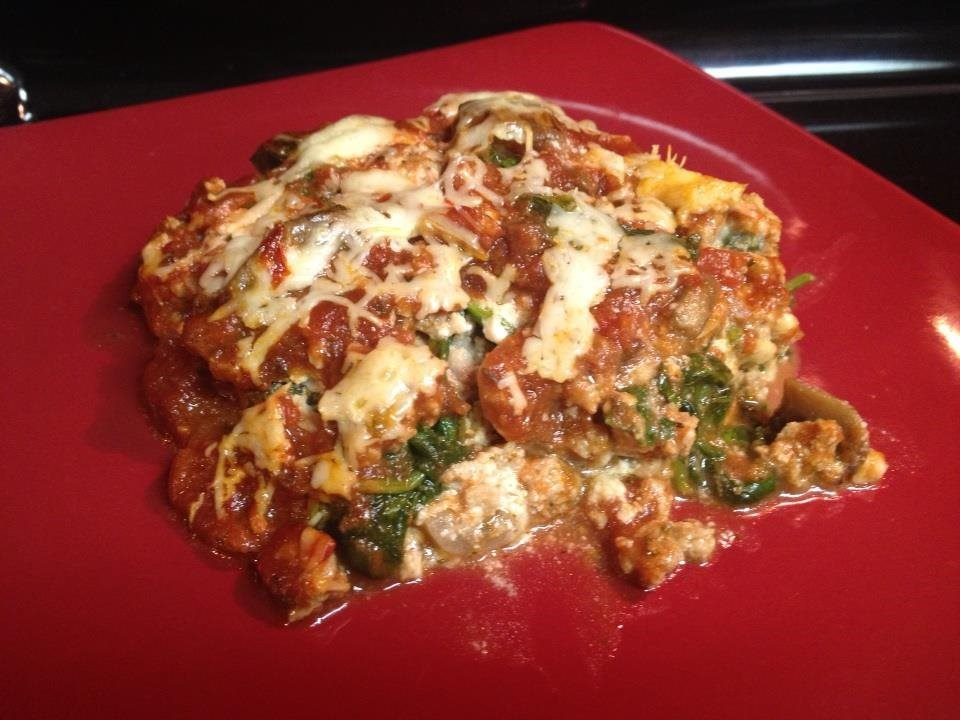 Mushroom, Spinach, and Turkey Lasagne