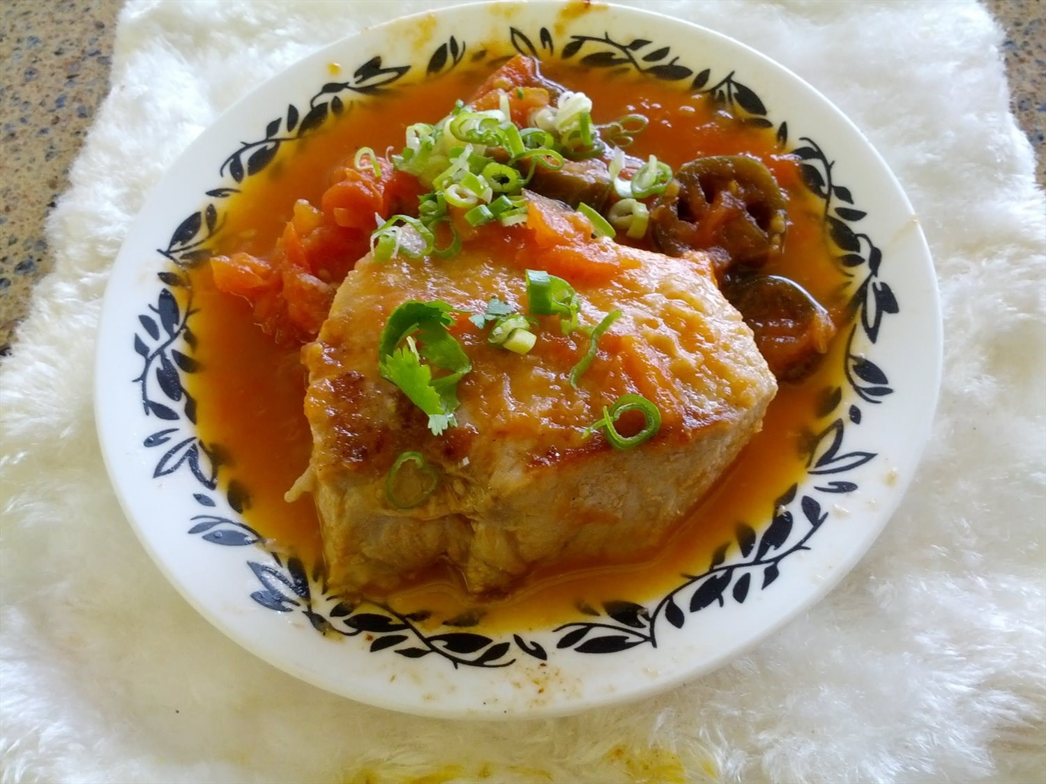 Spicy Tomato Pork Steak
