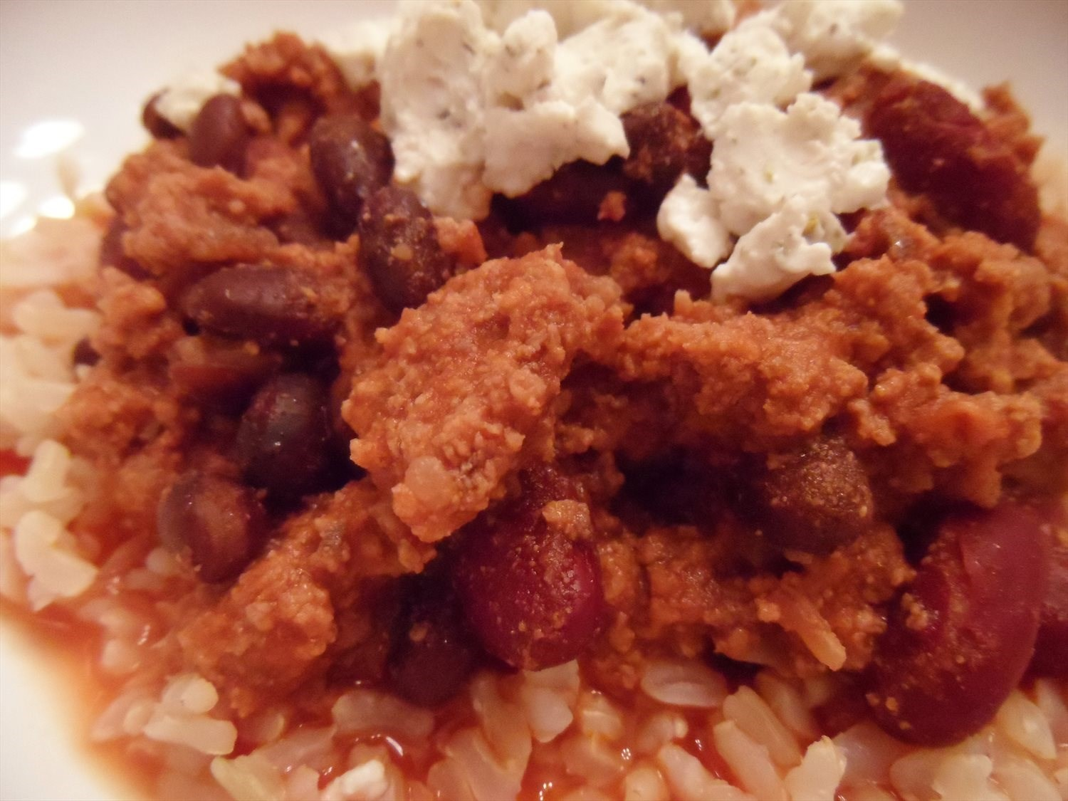 Crock Pot Chili con Arroz y Queso