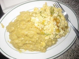 Mangu with scrambled eggs