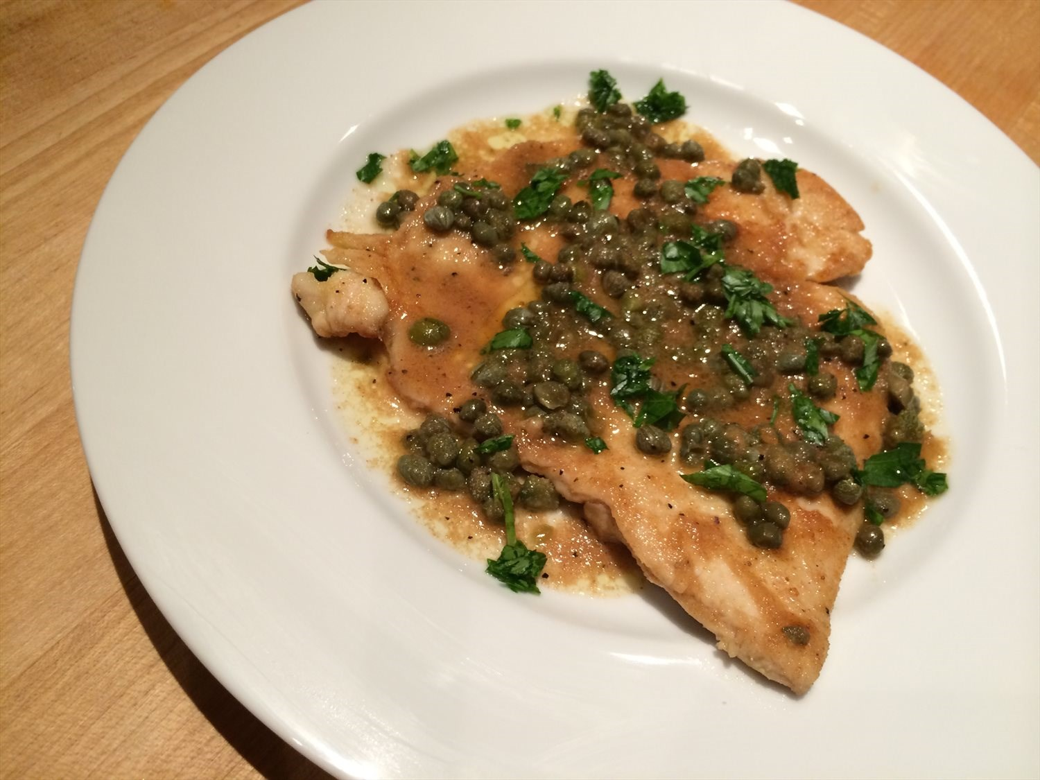 Turkey Cutlet Piccata