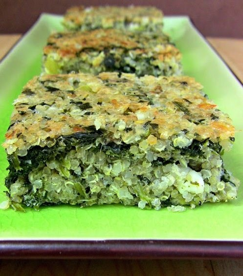 Quinoa Spinach Breakfast Bars