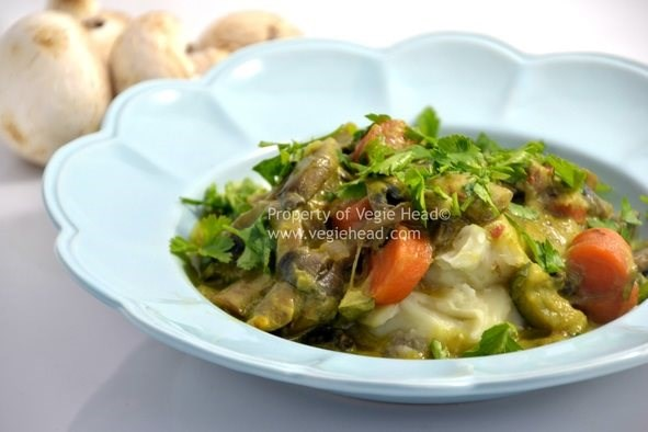Mushroom and Vegetable Stroganoff