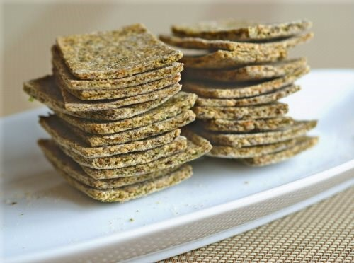 Hazelnut Cilantro Crackers