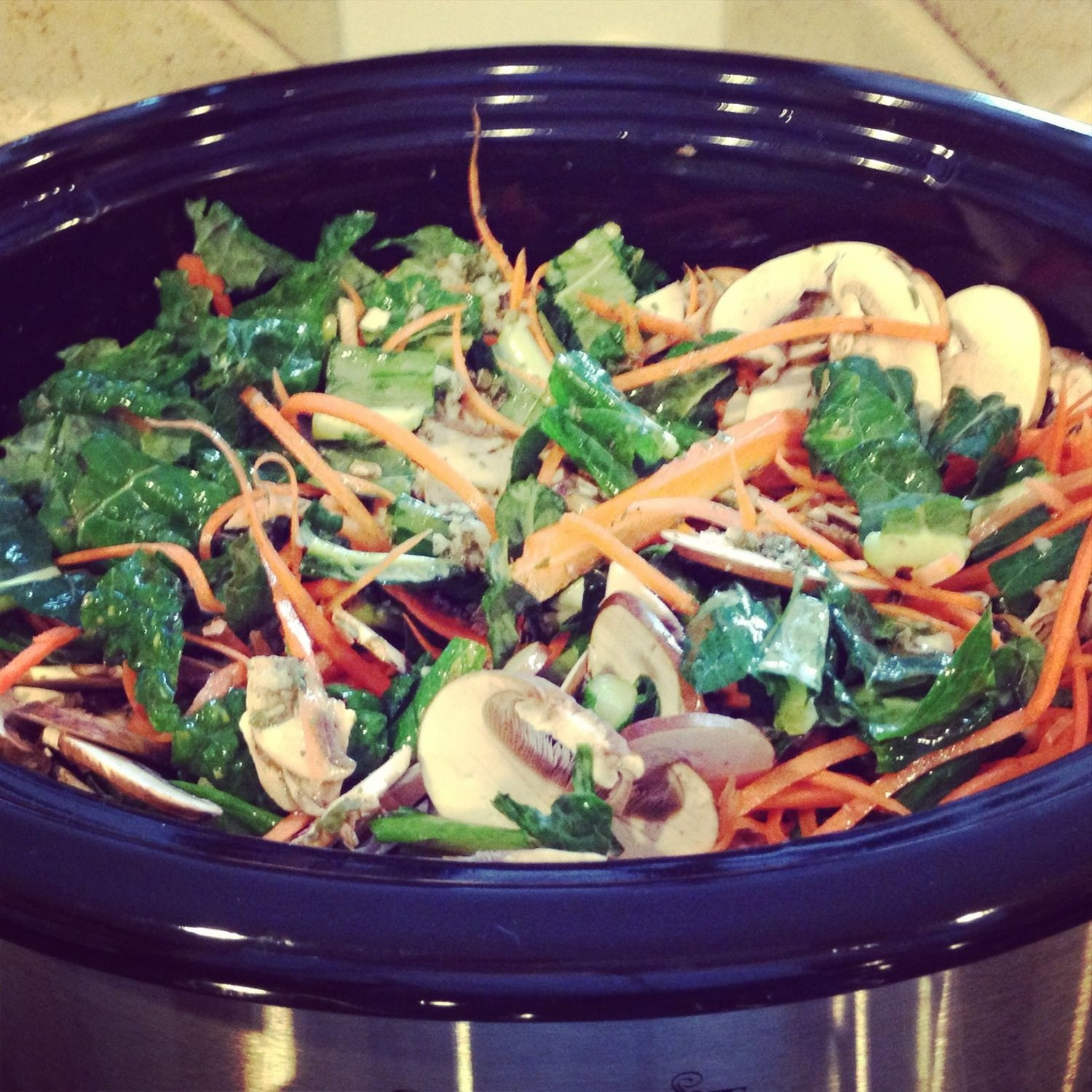Slow Cooker Chicken Kale and Veggie Delight