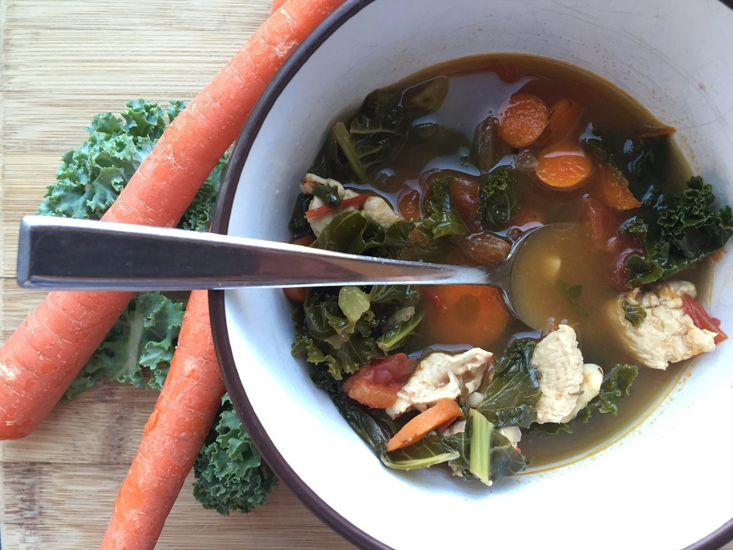 Chicken Vegetable Soup with Kale