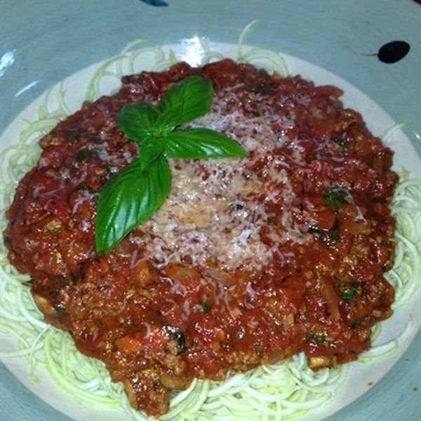 Italian Meat Sauce with Zucchini Noodles