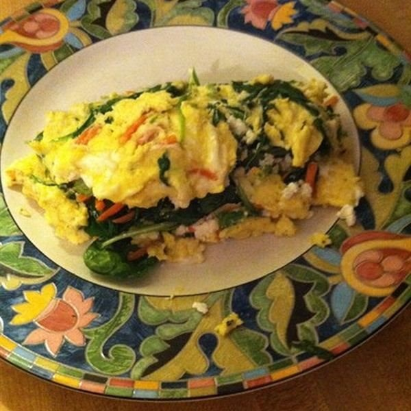 Arugula and Goat Cheese Omelet