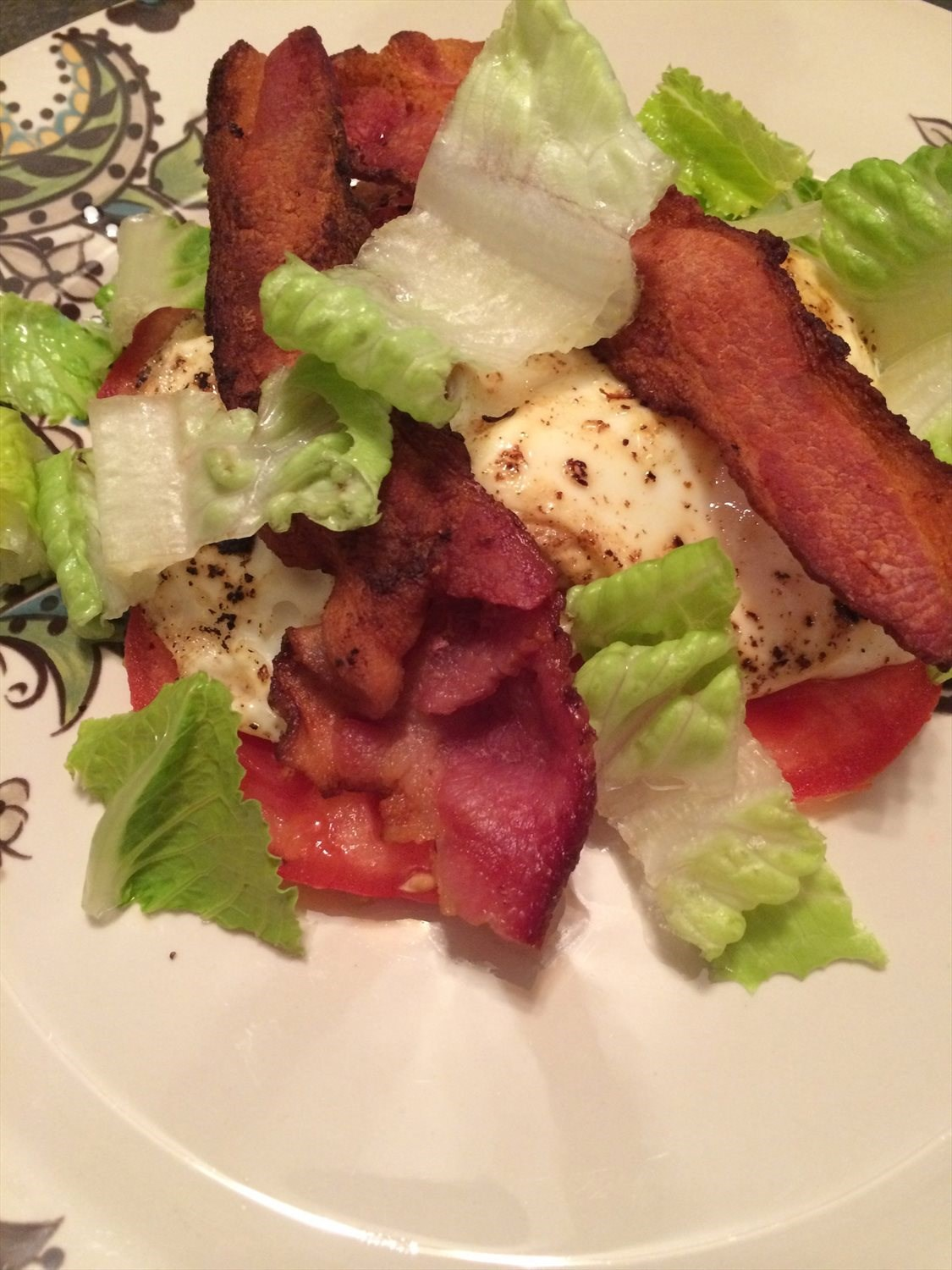 Bread-less Egg BLT