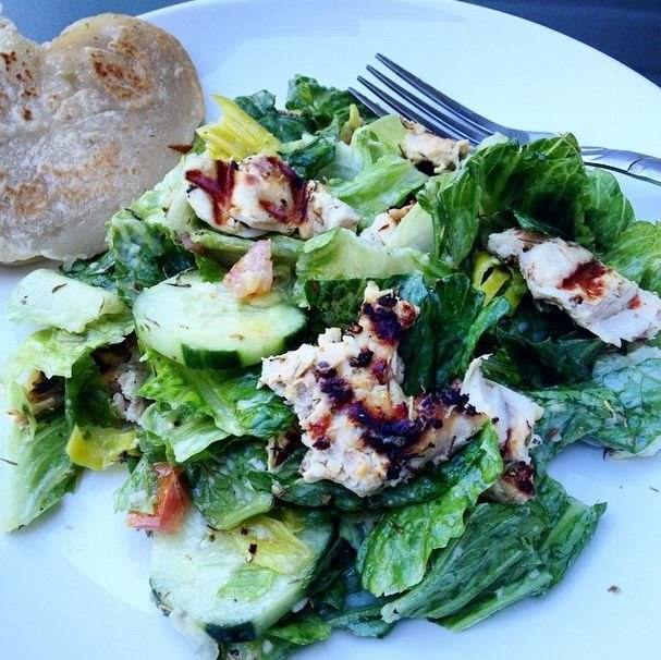 Tzatziki Grilled Chicken Salad