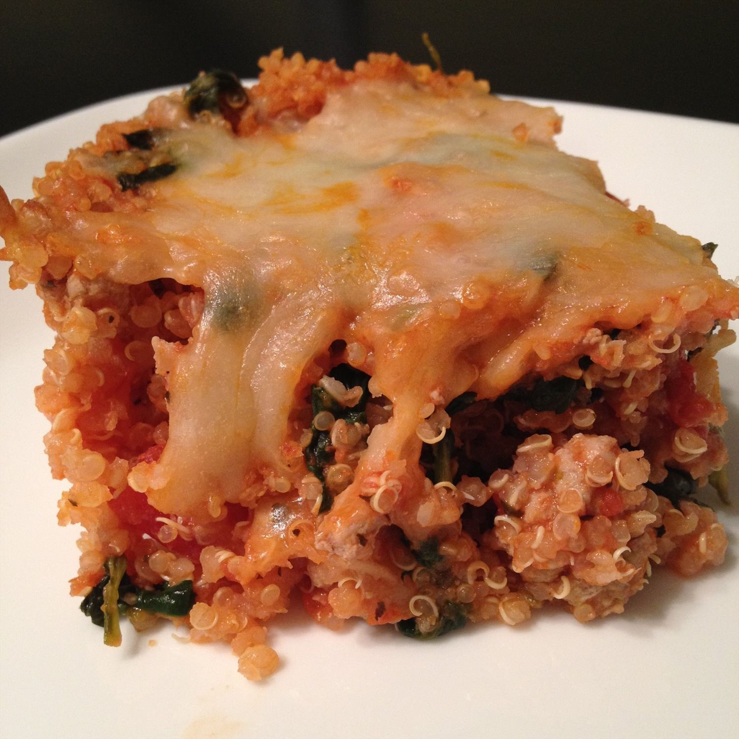 Turkey Spinach Quinoa Casserole