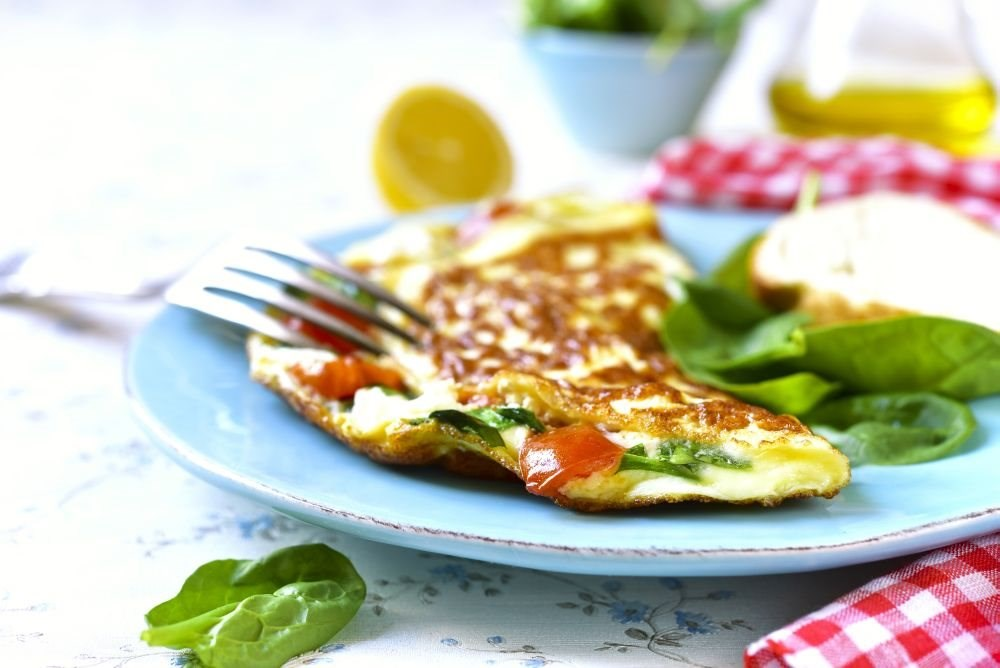 Spinach Tomato Omelet