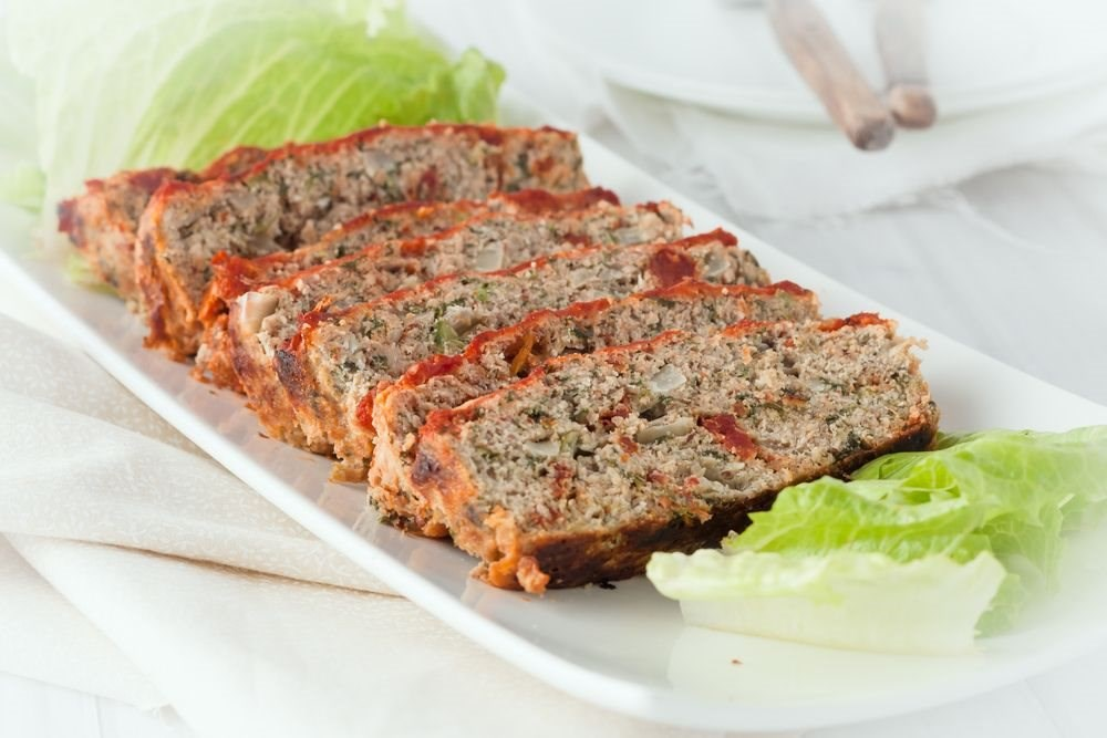 Spinach and Red Pepper Turkey Meatloaf