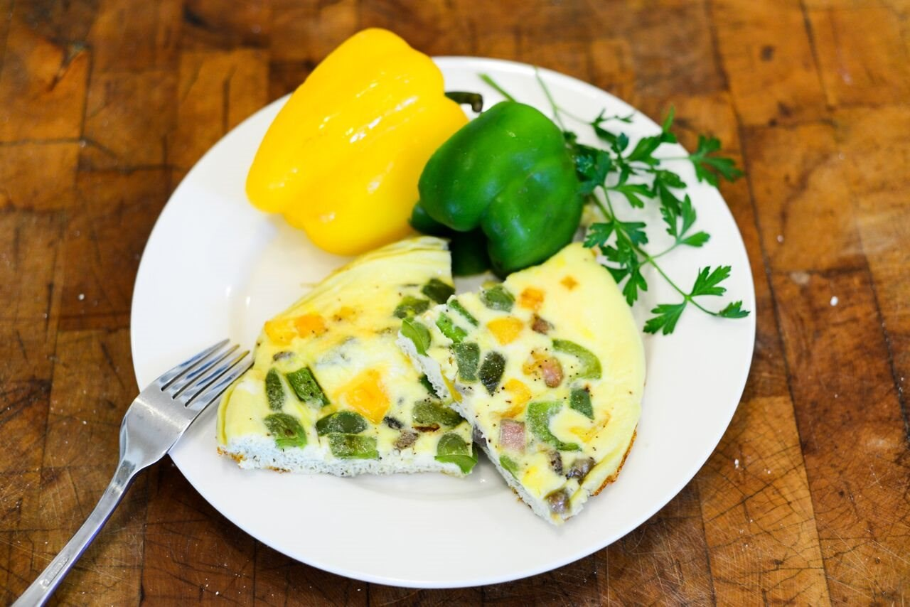 Peppers and Onion Frittata