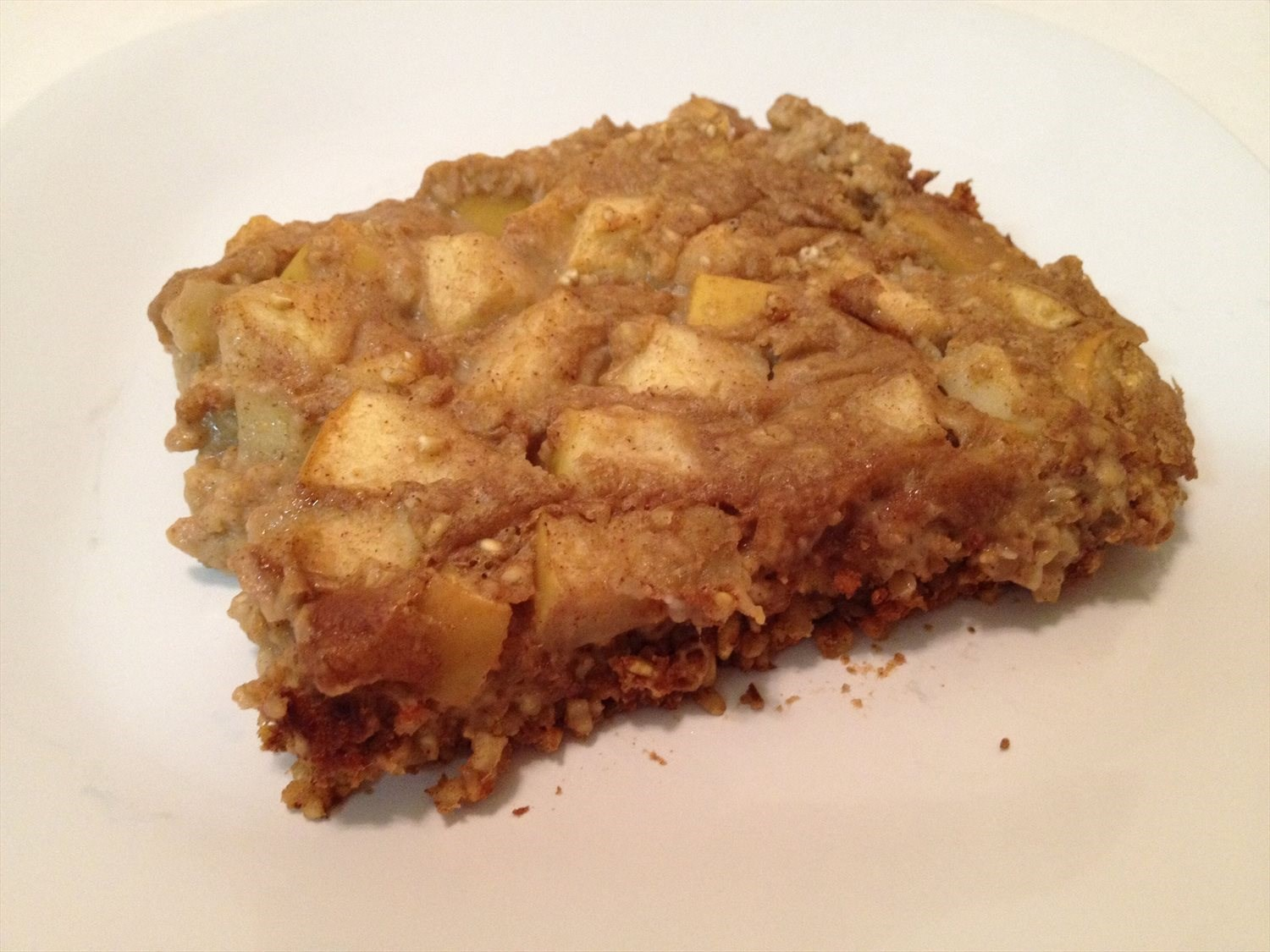Baked Apple and Almond Butter Steel Cut Oats