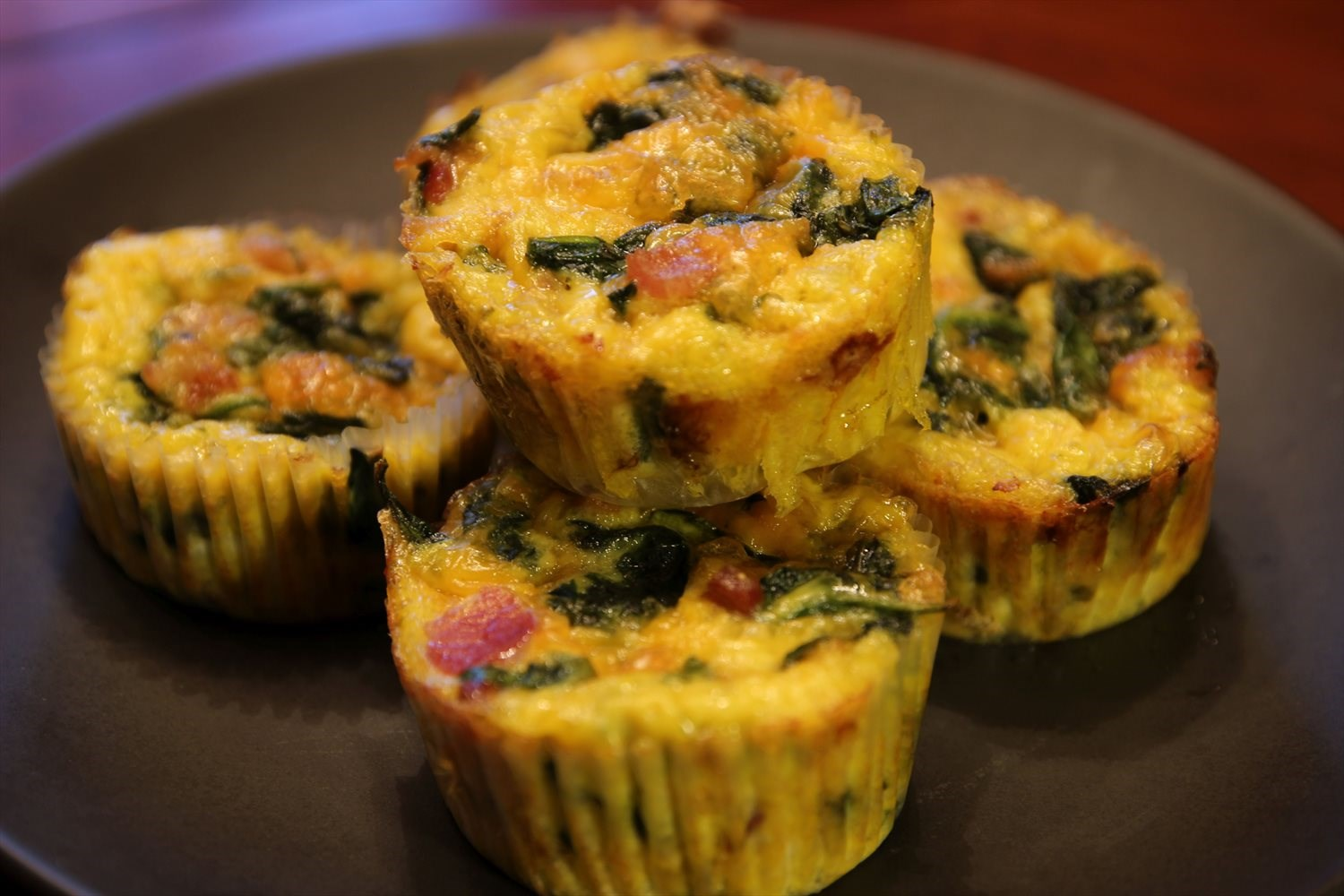 Bacon and Spinach Egg Muffins