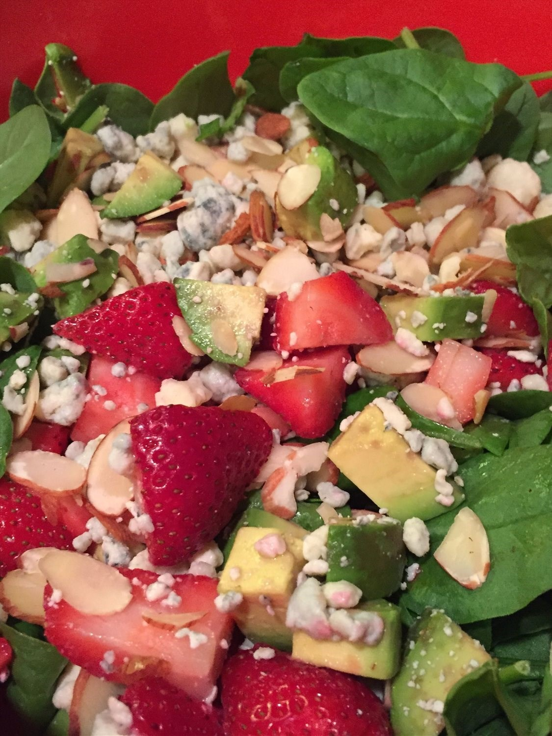 Strawberry Almond Salad with Poppyseed Dressing