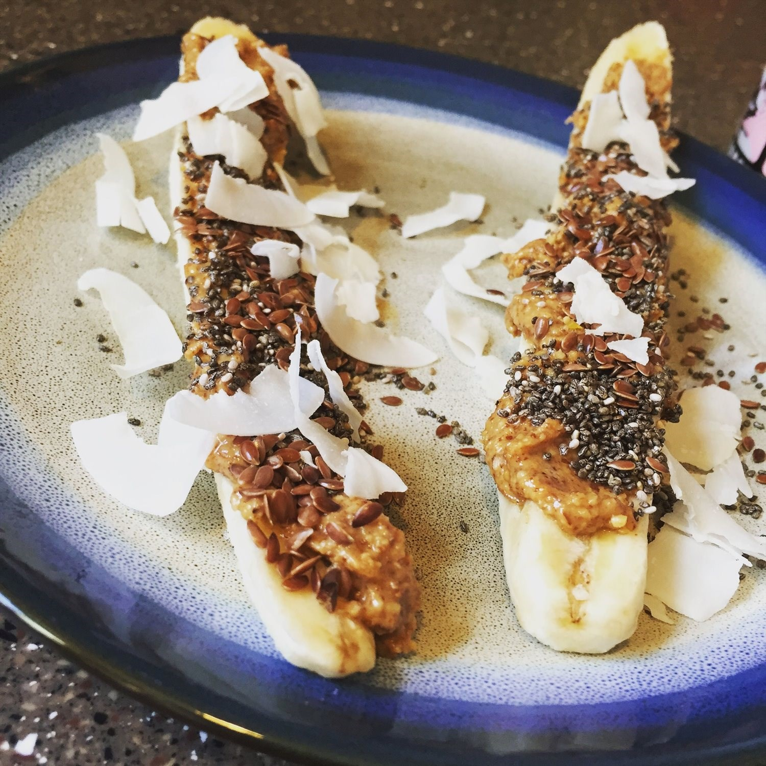 Banana Almond Butter Boats