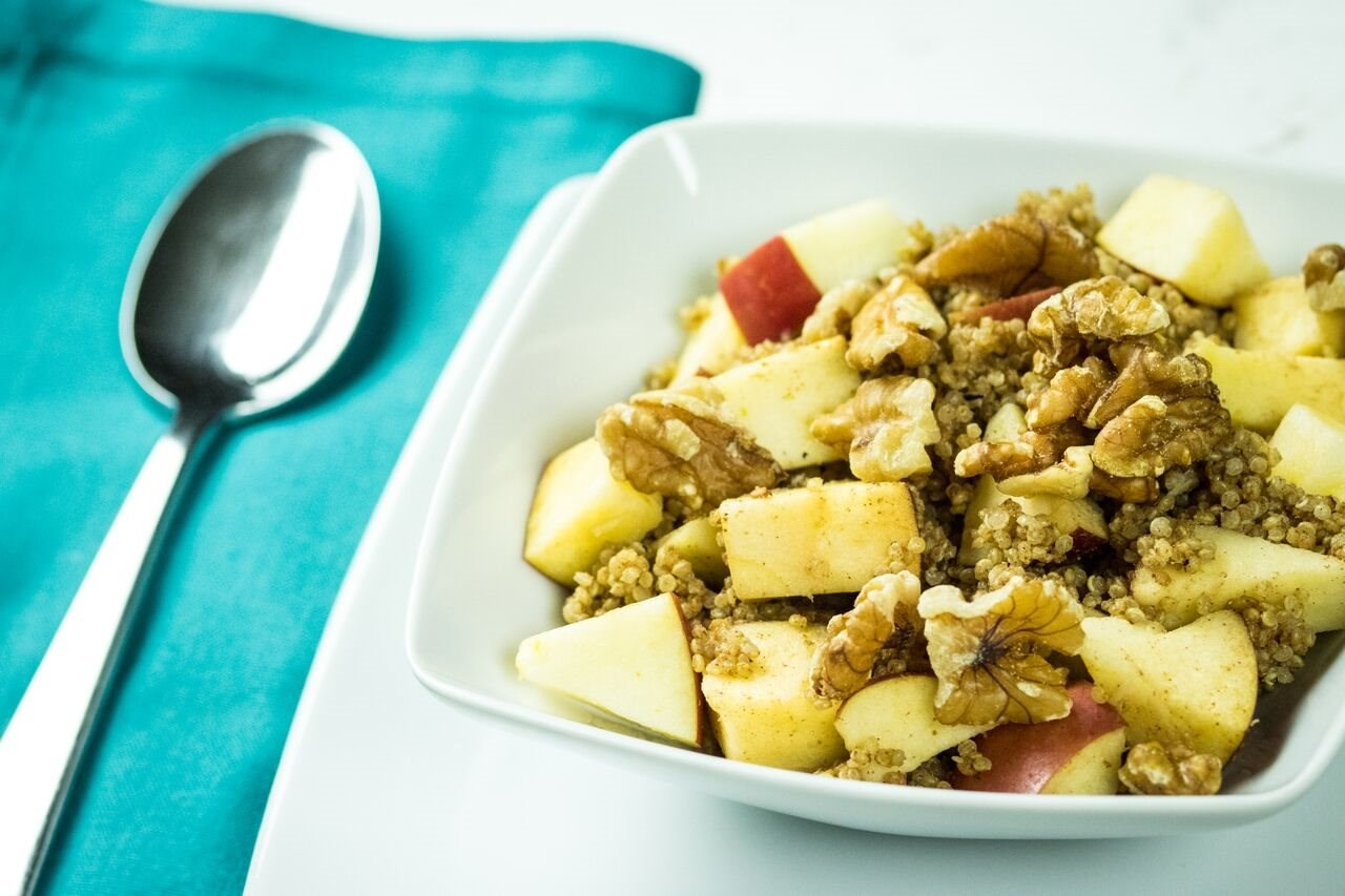 Cinnamon Apple Walnut Quinoa