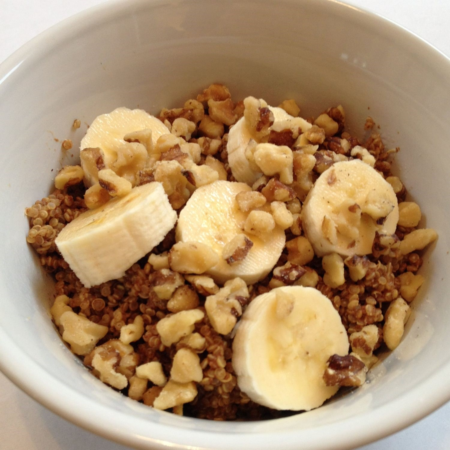 Banana Walnut Breakfast Quinoa