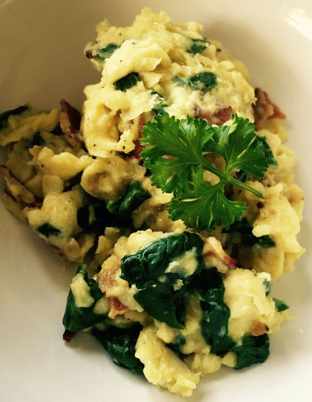 Spinach Bacon Scramble