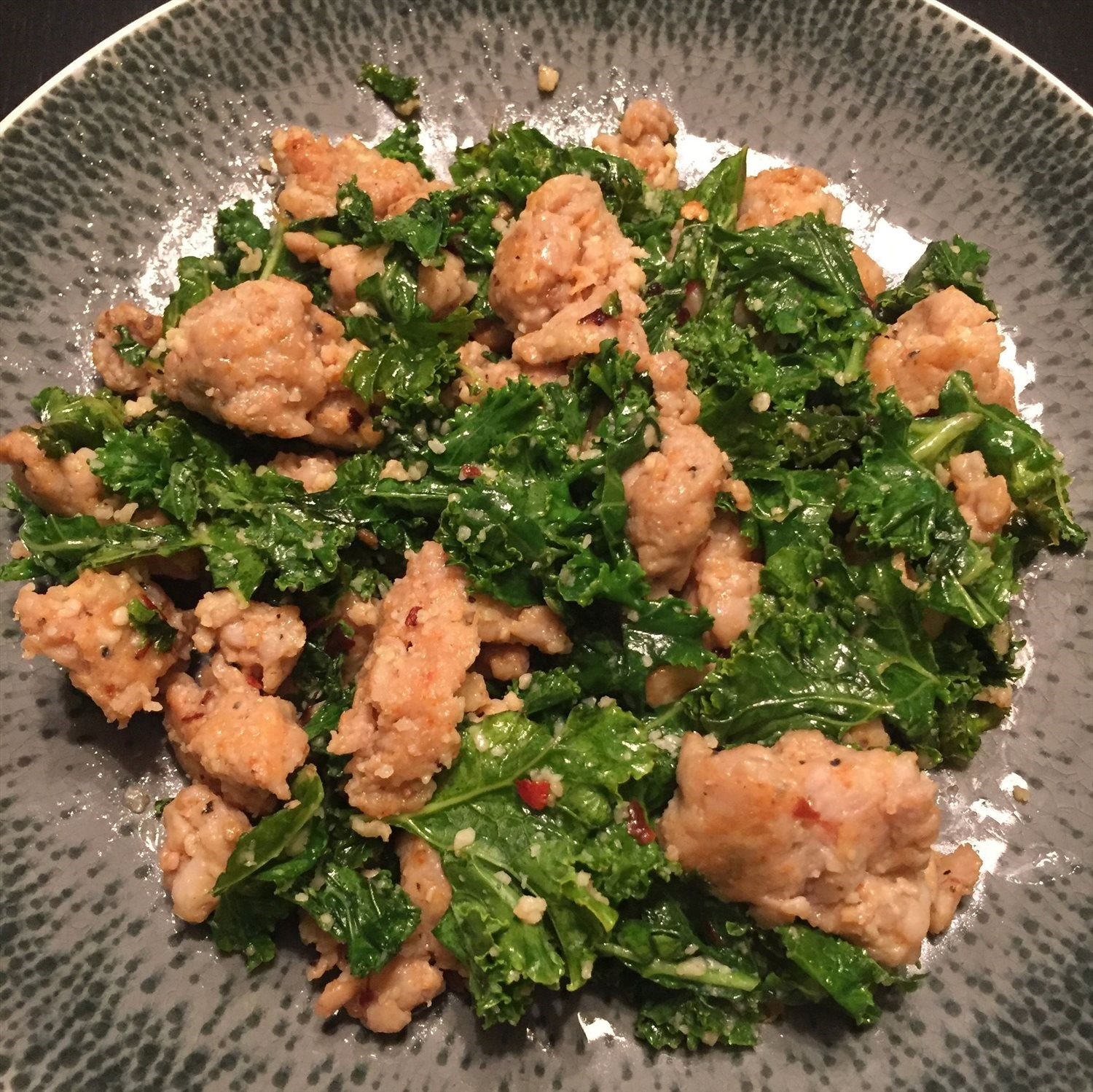 Kale and Chicken Sausage Skillet