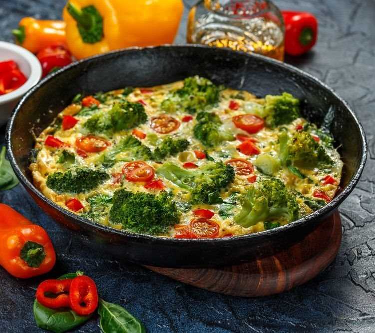 Broccoli and Tomato Frittata