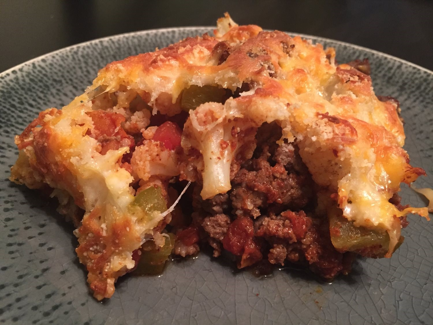 Mexican Beef and Cauliflower Casserole